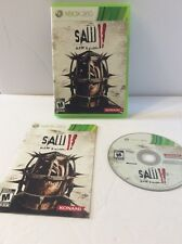 Saw II: Flesh & Blood  (Xbox 360, 2010) Complete Cib Mature Konami