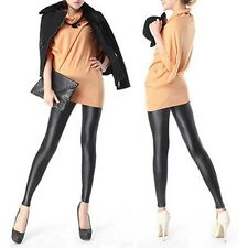 Sexy Women Faux PU Leather Leggings Skinny Pencil Pants Tights Trousers AO