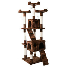"Cat Tree House Furniture Condo 66"" Pet Play Tower Scratching Post for Cats"