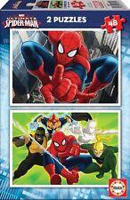 Puzzle bambino 2 x 48 Pezzi - Ultimate Spider-Man di Educa