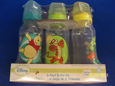 Winnie the Pooh 3-Pack Bottle Set Plastic Feeding Bottles Baby Shower Party Gift