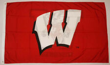 University of Wisconsin  Badgers 3' x 5' NCAA College flag banner, New