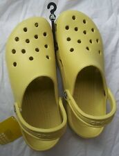 CROCS CLASSIC BEACH CAYMAN SANDAL CLOG SHOE~Men 11 Yellow Butter Lemon Cream~NWT