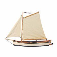 G4147: Fischerkahn mit Gaffelsegel, Segel Fischer, Segelboot, Modellboot Holz