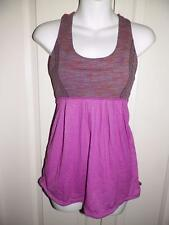 LULULEMON ATHLETICA Babydoll Racer Back Yoga Work Out Tank Top sz 4 US