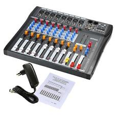 ammoon CT80S 8 Channel Live Studio Audio Mixer Console for Recording DJ NEW P4Q4