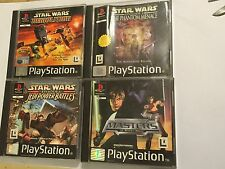 4 PS1 STAR WARS GAMES EPISODE I PHANTOM MENACE +JEDI BATTLES +TERAS KASI +DEMOL'