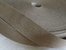 1 m Gummiband Gummibänder Gummizug Band 78 mm braun/beige (Grundpreis: 2,99€/m)