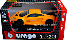 MCLAREN MP4-12C GT3 2013 1:43 Car NEW Model Diecast Models Cars Die Cast Orange