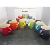 Le Creuset Set of 6 Rainbow Mugs RARE *NOT ESPRESSO* 12oz NEW IN BOX~ Insured