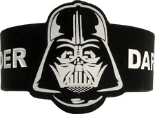 84011 Darth Vader Mask Star Wars Movie Black & White Rubber Wristband Bracelet