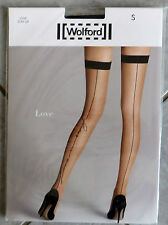 NEU & OVP: Wolford LOVE STAY UP Farbe: BLACK/BLACK! Gr. S!