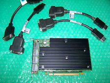 Nvidia Quadro NVS 450 512MB PCI-E Quad Monitors Graphics Card with 4 DVI Cables