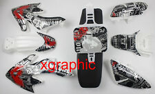 White Body Plastics Decals Stickers Tall Seat For Honda CRF50 XR50 Bikes SSR 1