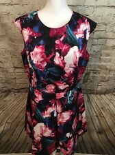 NWT Vince Camuto Floral Scuba Knit Fit & Flare Dress (Plus Size) (size 16W)