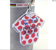 Robert Millar Peugeot KOM 1984 Cotton Cycling Jersey Keyring Tour De  France