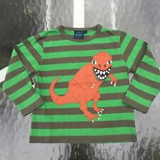 MINI BODEN Boy's AWESOME DINO Long sleeve shirt. 5-6 years GREAT!! WOW!!