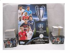 TOPPS CHAMPIONS LEAGUE 2015-16 STICKER ALBUM COMPLETED SET OF 619 STICKERS* NEW*
