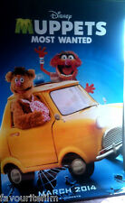 Cinema Banner: MUPPETS MOST WANTED 2014 (Fozzie Bear & Animal) Ricky Gervais