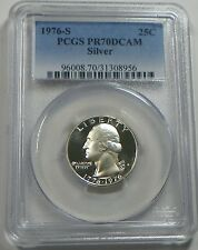 1976-S Silver Proof Washington Quarter Coin PCGS PR70DCAM  - FREE SHIPPING
