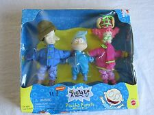 Vintage NIP Rugrats Pickles Family Winter Time 3pc Doll Figure Set Tommy 1999