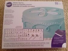 Wilton Cake Decorating Master Tip Set, Includes case, 55 Tips, Couplers & Nails