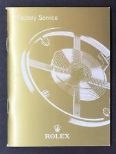 """Rolex Factory Service Manual/Book/Booklet In Good Condition """"U.S. Seller"""""""