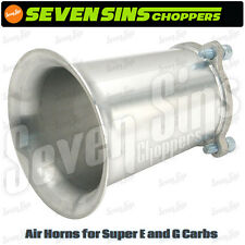"S&S Cycle Super E & G Carburetor Velocity 4"" Stack Air Horn Harley Chopper"