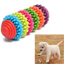 Pet Dog Puppy Colorful Rubber Dental Teething Healthy Teeth Chew Play Ball Toy