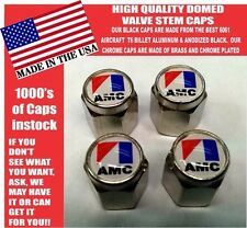 AMC  American Motors Chrome Valve Stem Caps - Very Nice! Unique!