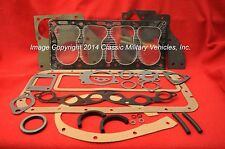 Willys Jeep Engine Overhaul Gasket Set. CJ2A CJ3A M38 MB Ford GPW L134 Flat Head