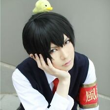 Hot Katekyo Hitman Reborn Hibari Kyoya Black Short Party Hair Full Cosplay Wig