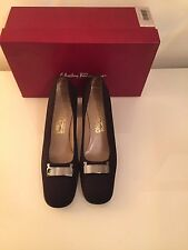 Salvatore Ferragamo Black Shoes-Sz 6.5 (39.5) US 9.5 AA Narrow- Worn Twice
