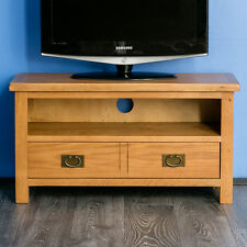Surrey Oak TV Stand / Small Plasma TV Unit / Cabinet / Brand New Rustic Oak
