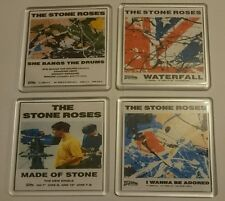 STONE ROSES x4 COASTERS made of stone waterfall she bangs the drums cd vinyl
