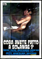 COSA AVETE FATTO A SOLANGE? MANIFESTO CINEMA THRILLER 1972 CULT MOVIE POSTER 4F