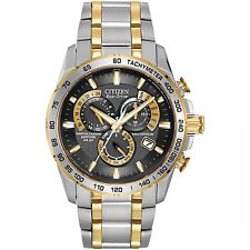 Citizen Eco-Drive Men's Perpetual Chrono A-T Two-Tone  Watch AT4004-52E