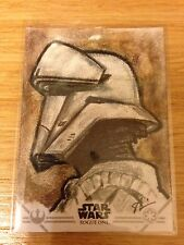 2016 Topps Star Wars Rogue One Series 1 Stormtrooper Sketch by Anthony Skubis