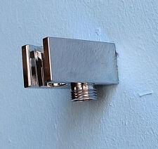 Wandanschlussbogen mit Brausehalterung Wandhalterung Wandbogen aus PVC (Bogen-B1