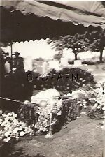 Vintage Real Photo- Grave- Funeral- Casket- Tombstone- Graveside- 1920s-30s