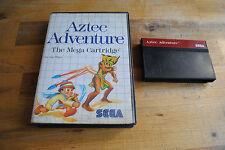Jeu AZTEC ADVENTURE pour Sega MASTER SYSTEM (sans notice)