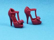 Barbie Rouge Pink High Heel Bow Sandals Shoes fits Basic Model Muse 2015