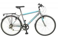 "New Falcon Mens Explorer Hybrid Bike Bicycle Black Blue 26"" 6 Speed Shimano"