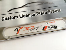2PC Chrome License Plate Frame for TOYOTA RACING GT86 IS250 Corolla 4Runner tC