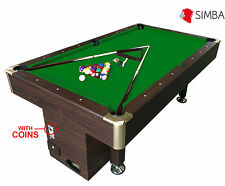 7 Ft Pool Table Billiard Playing Cloth with coin machine for public places Apoll