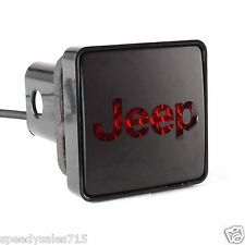Bully (CR-007J) Black Square Hitch Cover with Jeep Logo New Free Shipping