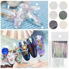 Decals Starry Broken Glass Transfer Foils Manicure Galaxy Nail Art Stickers