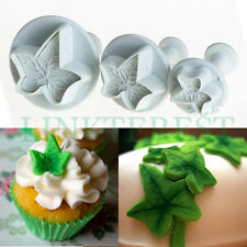 Fondant Ivy Leaf Plunger Cutters Sugarcraft Icing Mould Mold Tool Baking Cake