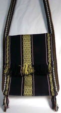 Women's Purse Bag Satchel Cross Body Boho Bohemian Ethnic Black Gold
