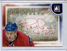 2012-13 ITG FOREVER RIVALS SHAYNE CORSON AUTOGRAPH